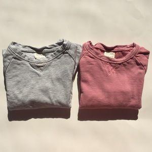 Bundle of 2 Zara Girls long sleeve sweatshirt 5/6
